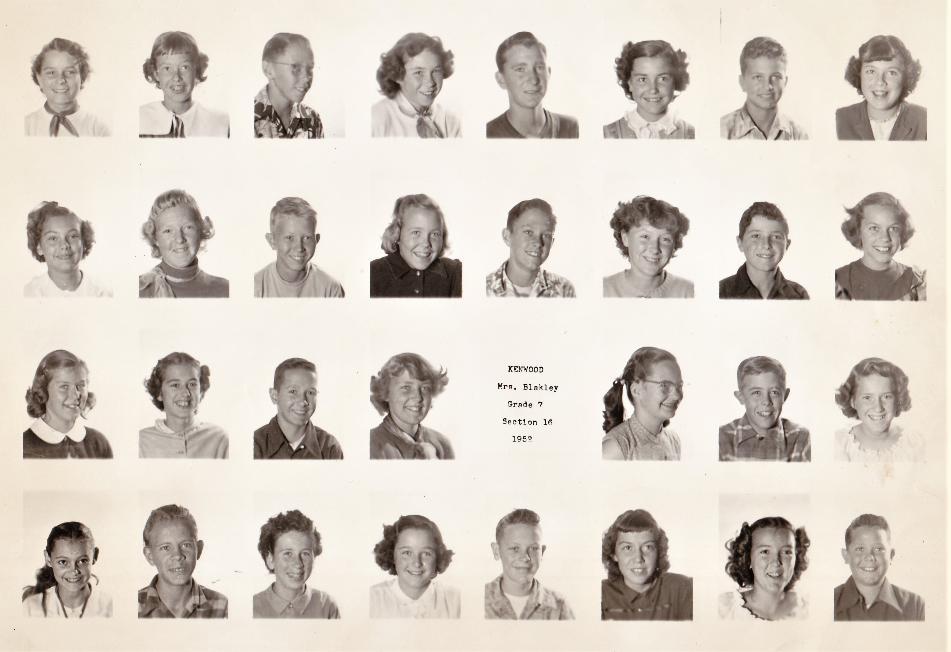 Kenwood 7th grade class of 58